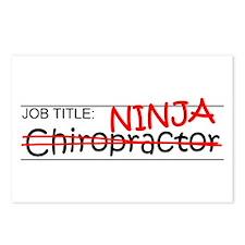 Job Ninja Chiropractor Postcards (Package of 8)