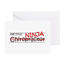 Job Ninja Chiropractor Greeting Card