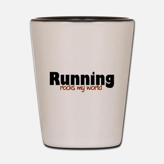 'Running' Shot Glass