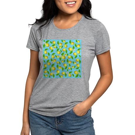 Lemon pattern Womens Tri-blend T-Shirt