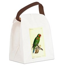 Red and Green Parrot Canvas Lunch Bag