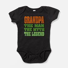 Grandpa The Legend Baby Bodysuit