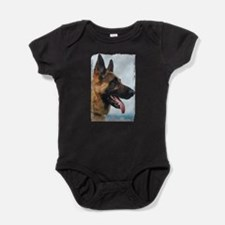 German Shepard Baby Bodysuit