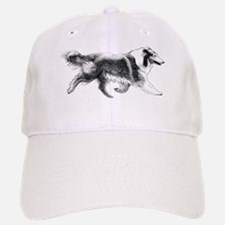 Running Collie Baseball Baseball Cap