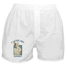 I Love my Rabbit Boxer Shorts