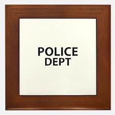 POLICE DEPT Insignia Framed Tile