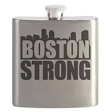 Boston Strong Black Flask