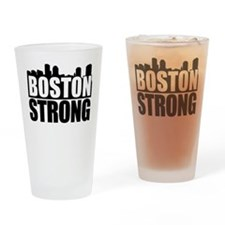 Boston Strong Black Drinking Glass