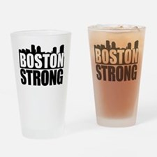 Boston Strong Black Drinking Glass