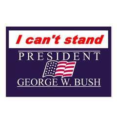 Can't Stand Bush Postcards (Package of 8)