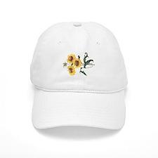 Redoute Sunflowers Baseball Cap