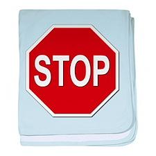 Sign - Stop baby blanket