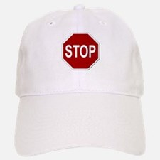 Sign - Stop Baseball Baseball Cap