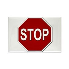 Sign - Stop Rectangle Magnet