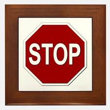 Sign - Stop Framed Tile