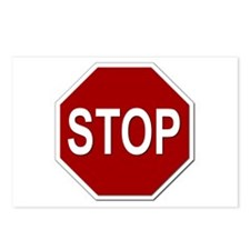 Sign - Stop Postcards (Package of 8)