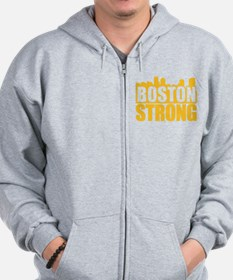 Boston Strong Gold Zip Hoodie