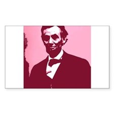 Abrahm Lincoln Rectangle Decal