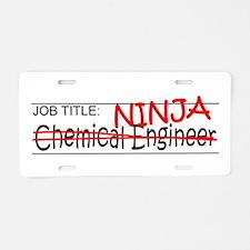 Job Ninja Chem Eng Aluminum License Plate