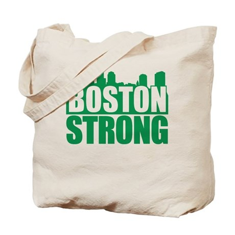 Boston Strong Green Tote Bag