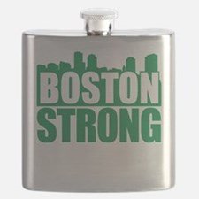 Boston Strong Green Flask