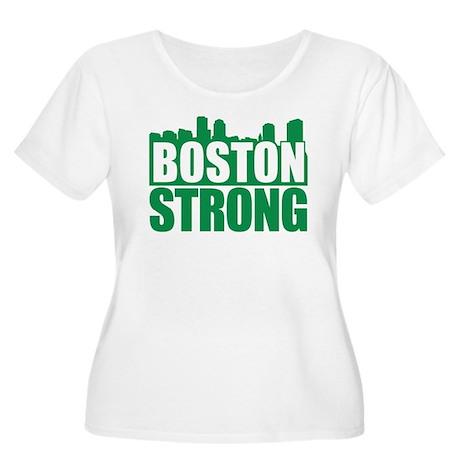 Boston Strong Green Plus Size T-Shirt