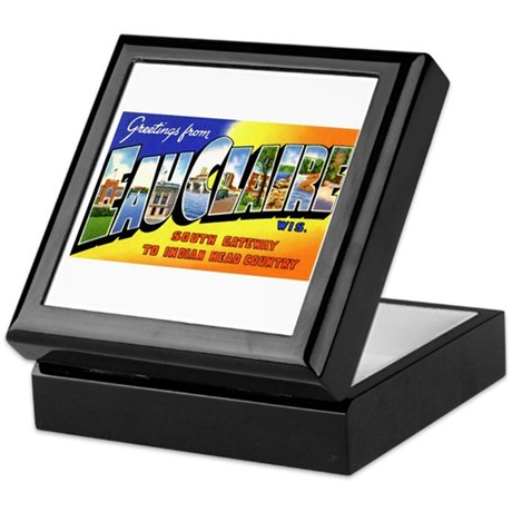 Eau Claire Wisconsin Greetings Keepsake Box