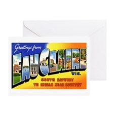 Eau Claire Wisconsin Greetings Greeting Cards (Pac