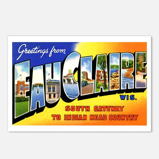 Eau Claire Wisconsin Greetings Postcards (Package