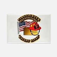 Fire - Firefighter - PA Rectangle Magnet