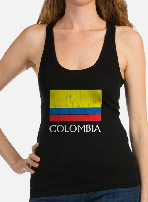 Colombia Flag Racerback Tank Top
