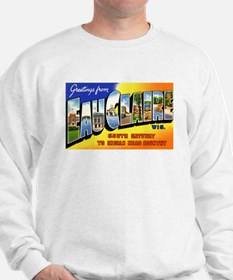 Eau Claire Wisconsin Greetings (Front) Sweatshirt