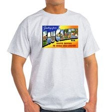 Eau Claire Wisconsin Greetings (Front) Ash Grey T-