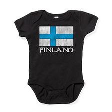 Finland Flag Baby Bodysuit