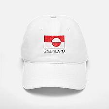 Retro Greenland Flag Baseball Baseball Cap