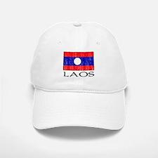 Laos Flag Baseball Baseball Cap