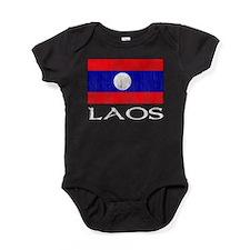 Laos Flag Baby Bodysuit