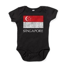 Singapore Flag Baby Bodysuit