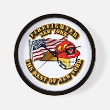 Fire - Firefighter - New York Wall Clock