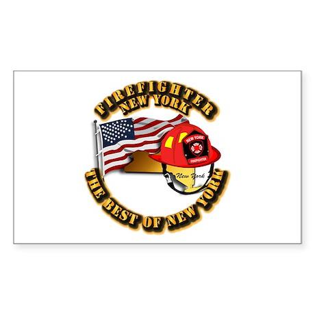 Fire - Firefighter - New York Sticker (Rectangle)