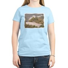 Climbed Great Wall Photo - Women's Pink T-Shirt