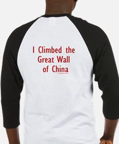 Climbed Great Wall Photo - Baseball Jersey