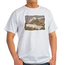 Climbed Great Wall Photo - Ash Grey T-Shirt