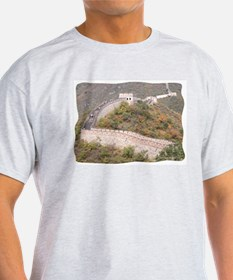 Climbed Great Wall Photo - Ash Grey T-Shirt