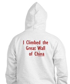 Climbed Great Wall Photo - Hoodie