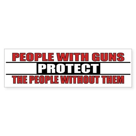 People With Guns Protect Sticker (Bumper)