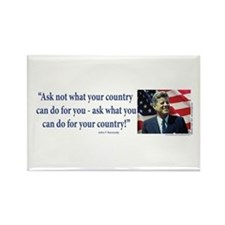 John F Kennedy Rectangle Magnet