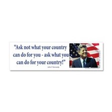 John F Kennedy Car Magnet 10 x 3