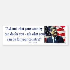 John F Kennedy Bumper Bumper Sticker