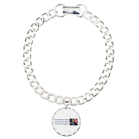 John F Kennedy Charm Bracelet, One Charm